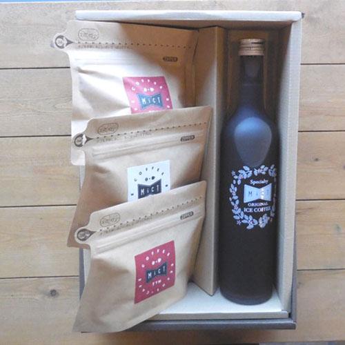 《ギフト》ボトルアイスコーヒー1本とコーヒー豆セット